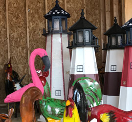 Light Houses and Yard Art